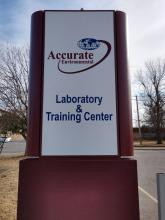 Sign for New Tulsa Lab & Training Center