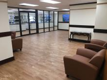 Reception area at new Tulsa lab
