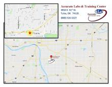 Map to the new Tulsa Lab and Training Center